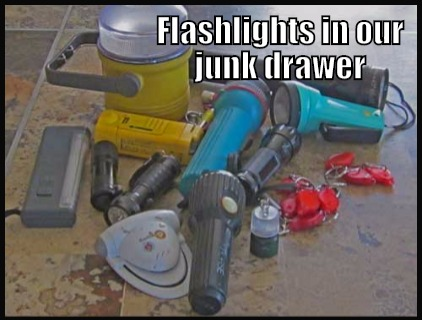 Flashlights in our junk drawer